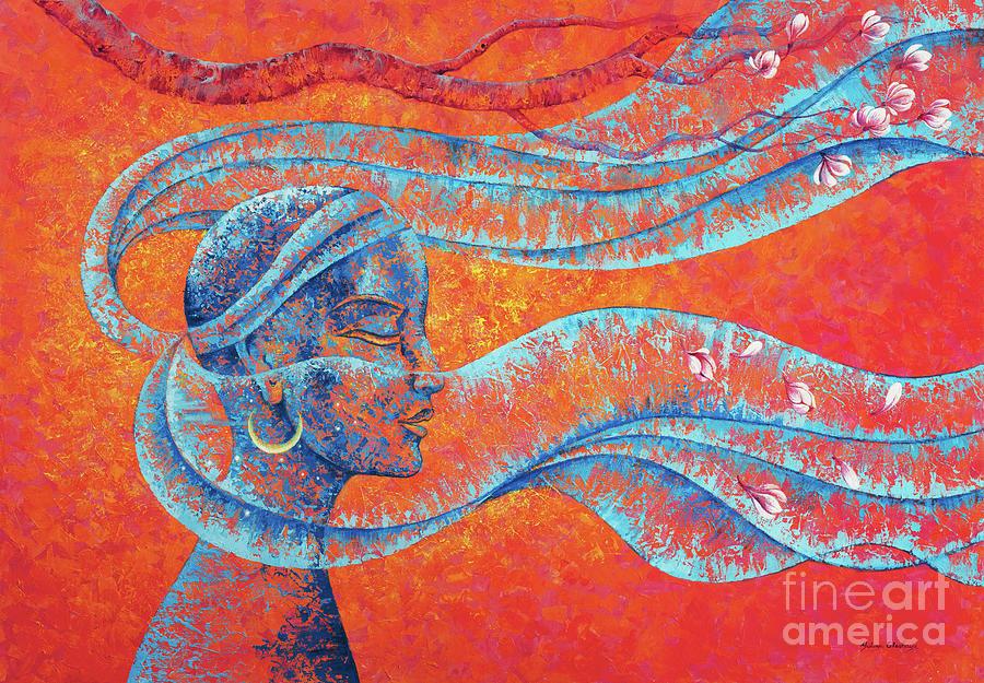 Shakti Painting - Wind of life by Yuliya Glavnaya