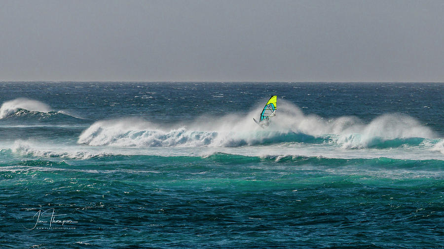 Hawaii Photograph - Wind Surfer by Jim Thompson