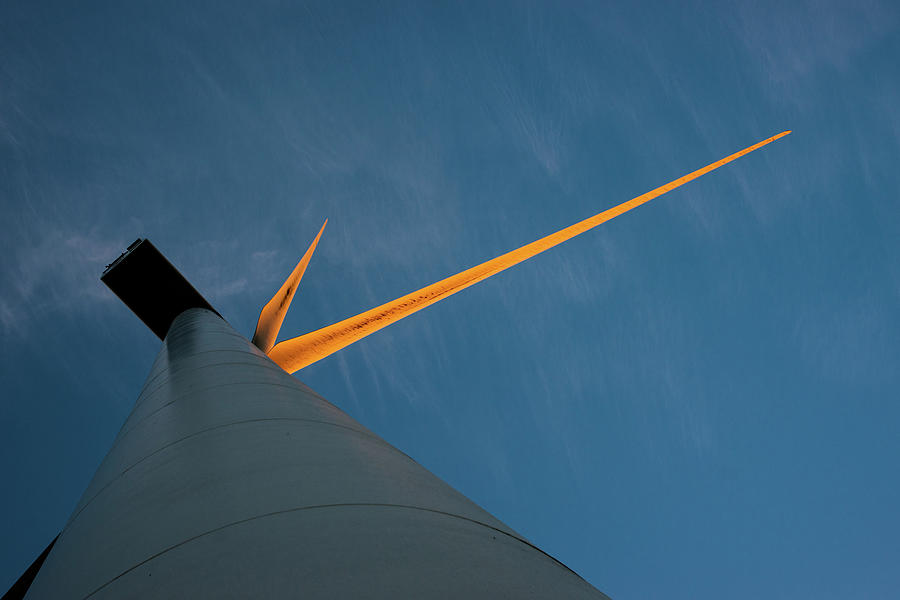 Wind turbine abstract by Max Blinkhorn