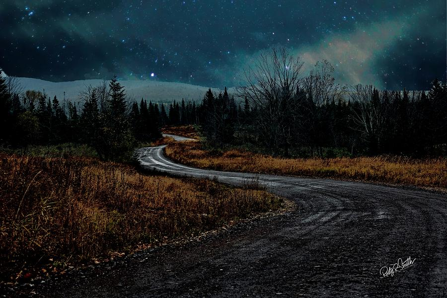 Winding dirt road through Northern New Hampshire by Rusty R Smith