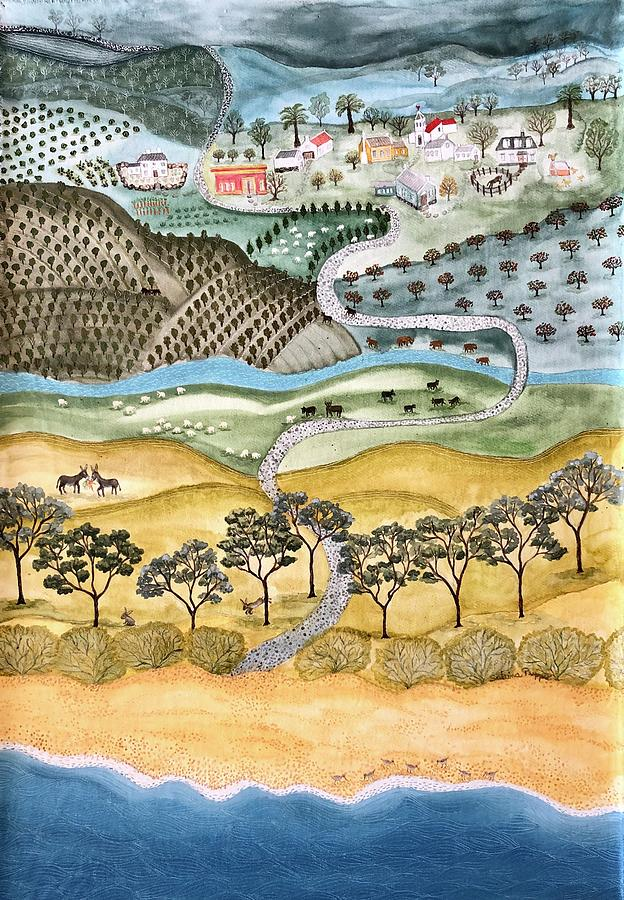 Winding Painting - Winding road to Pueblo Eden by Sabina Puppo