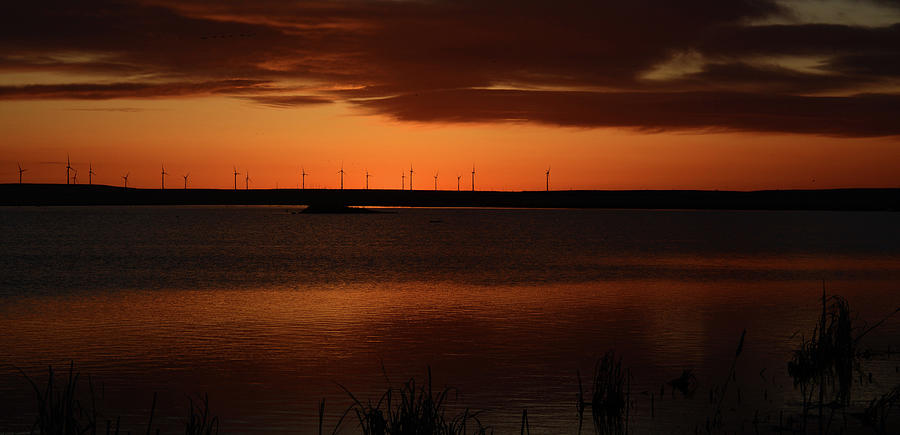 Windmill Sunrise Photograph