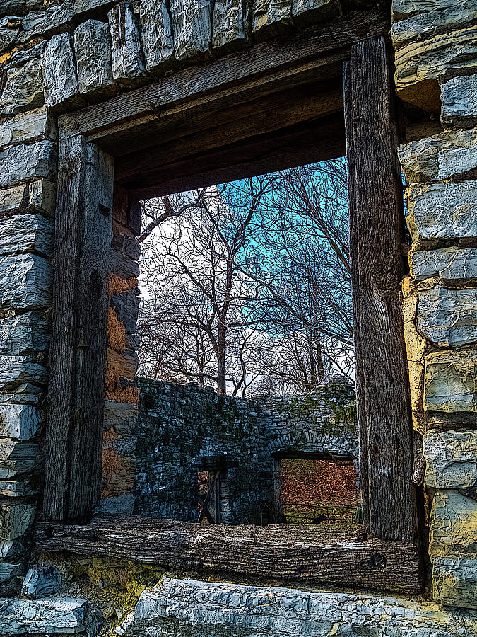 Window Into The Past - Bares Mill Photograph