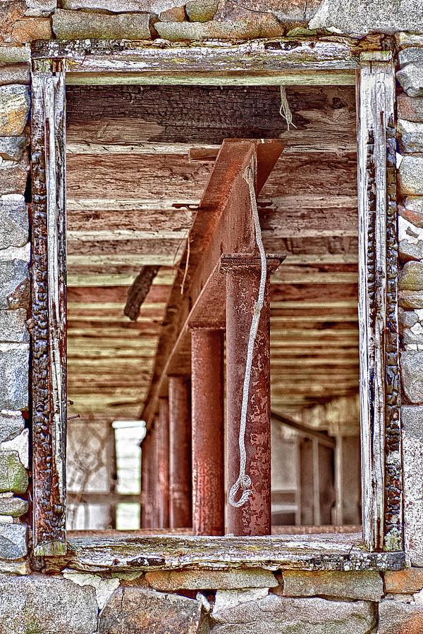 Window To An Empty Barn Photograph
