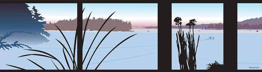 Winter Digital Art - Window View by Marian Federspiel