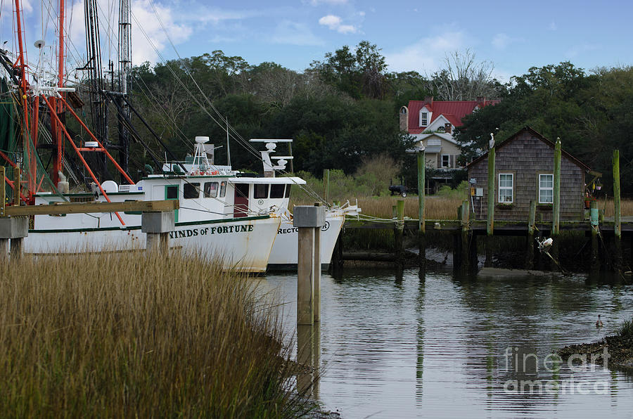 Winds Of Fortune Shrimp Boat On Shem Creek Photograph