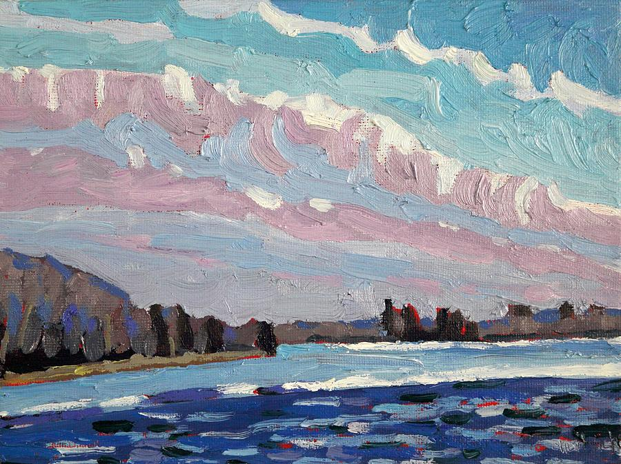 March Painting - Windy March Storm Approaching by Phil Chadwick