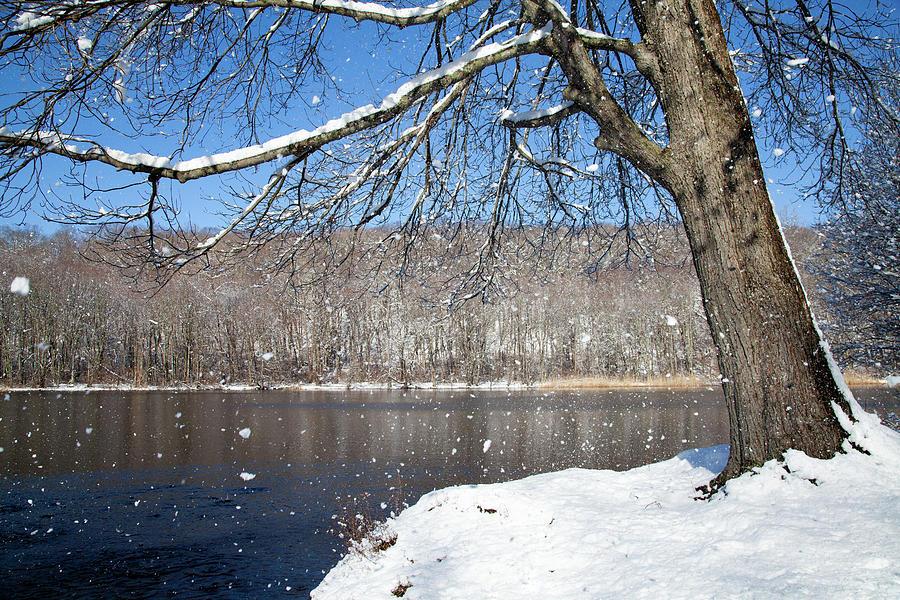 Windy Snow Photograph