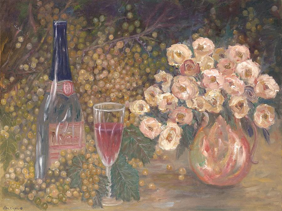 Wine And Roses Painting by Ben Kiger