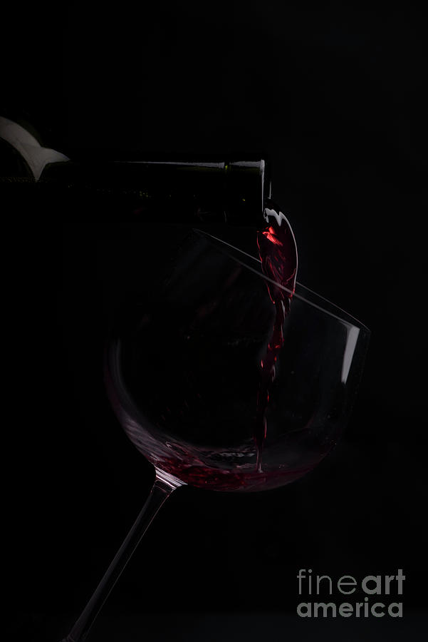 Wine on black background by Jelena Jovanovic