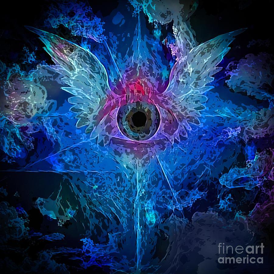 Winged Eye Painting Digital Art