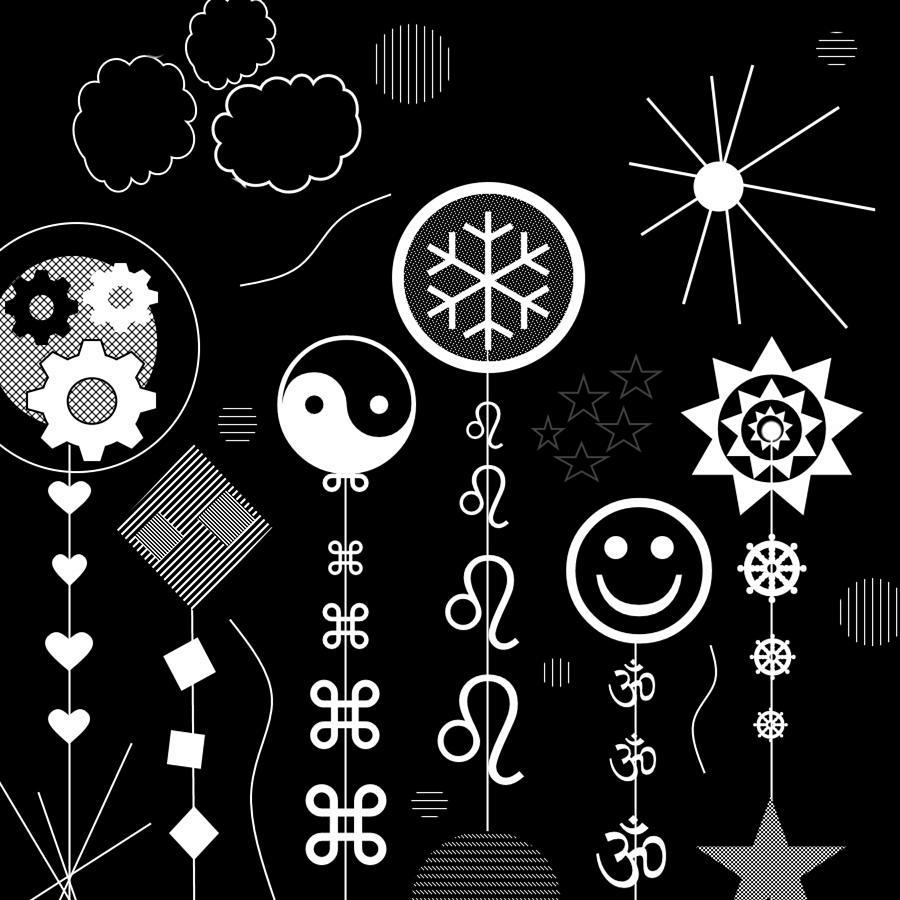 Black Digital Art - Winging It by Lady Ls Designs