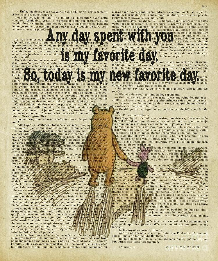 Winnie The Pooh Digital Art - Winnie The Pooh Any Day Spent With You by Trindira A