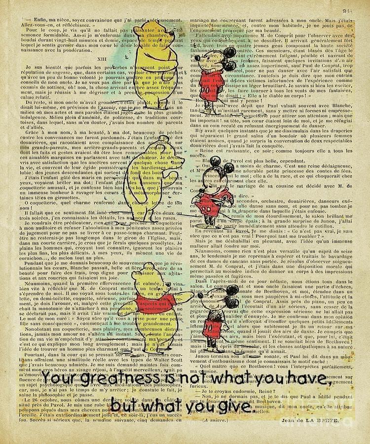 Winnie The Pooh Digital Art - Winnie The Pooh Mickey Mouse by Trindira A