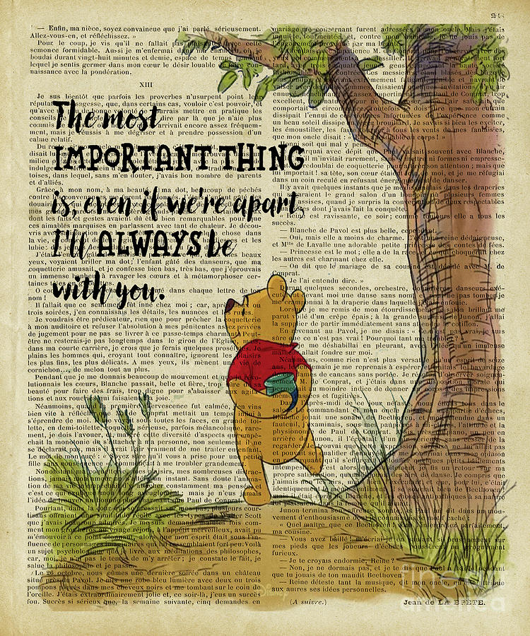 Winnie The Pooh Digital Art - Winnie The Pooh The Most Important Thing  by Trindira A