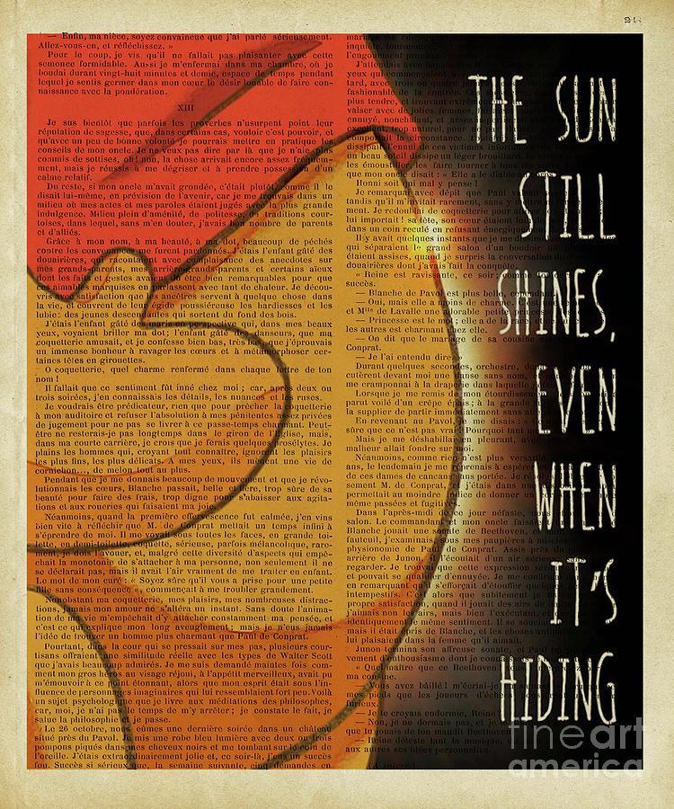 Winnie The Pooh Digital Art - Winnie The Pooh The Sun Still Shines  by Trindira A