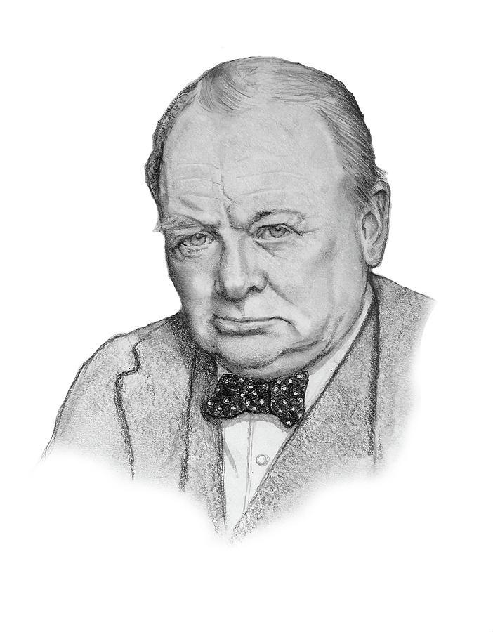 Winston Churchill Portrait Drawing