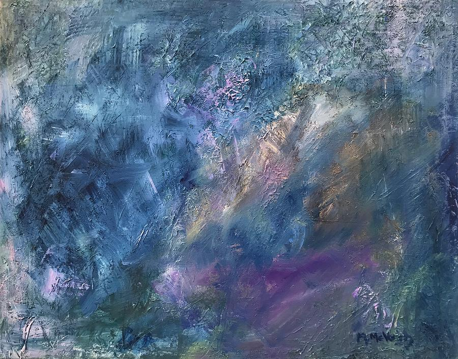 Winter Abstract Painting - Winter Abstract by Marita McVeigh