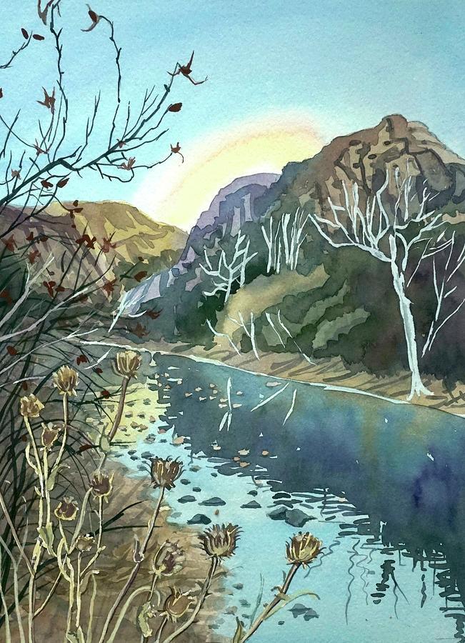 Winter Afternoon Malibu Canyon Painting