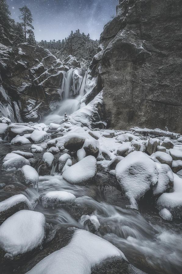 Winter At Boulder Falls Photograph