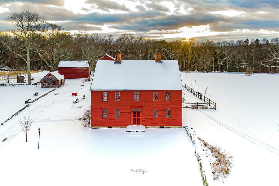 Winter at Nathan Hale Homestead  by Michael Hughes