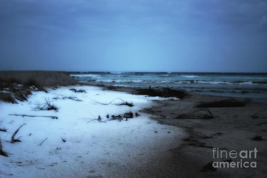 winter beach morning by AnnMarie Parson-McNamara