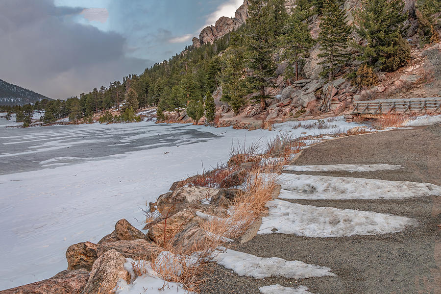 Winter Blues At Lily Lake by Marcy Wielfaert