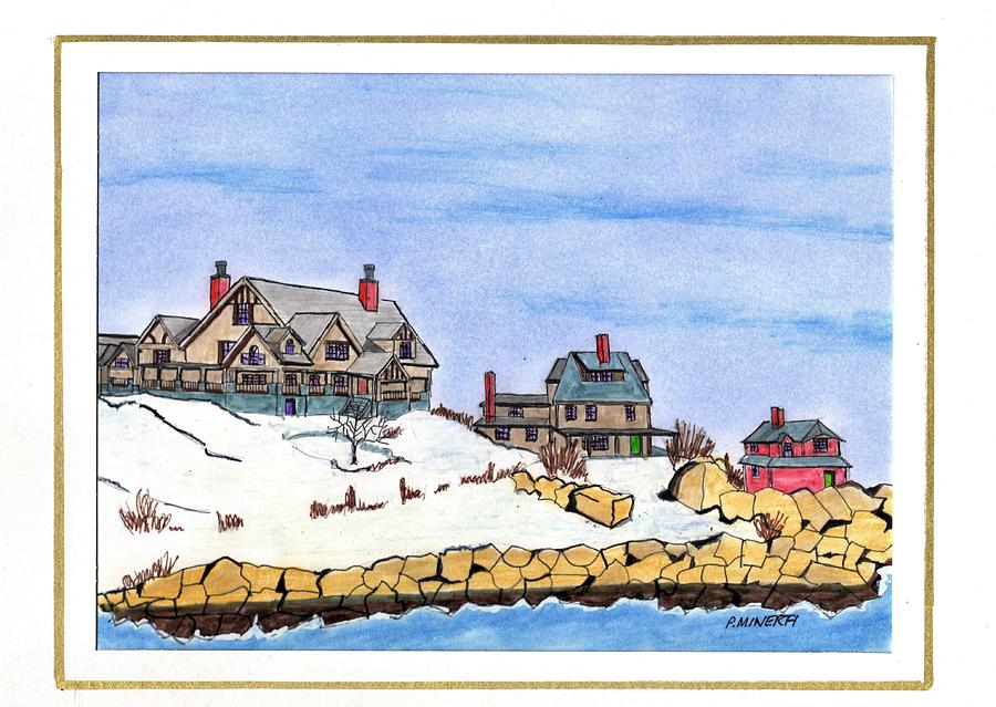 Winter By The Ocean Drawing
