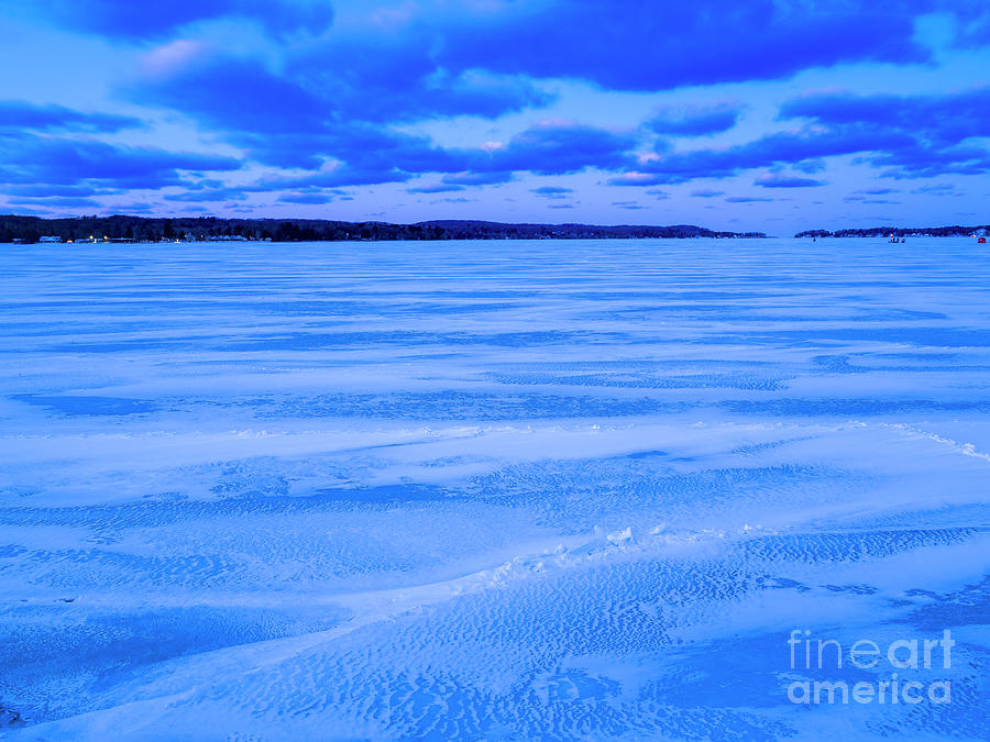 Winter Dawn On Portage Lake Photograph