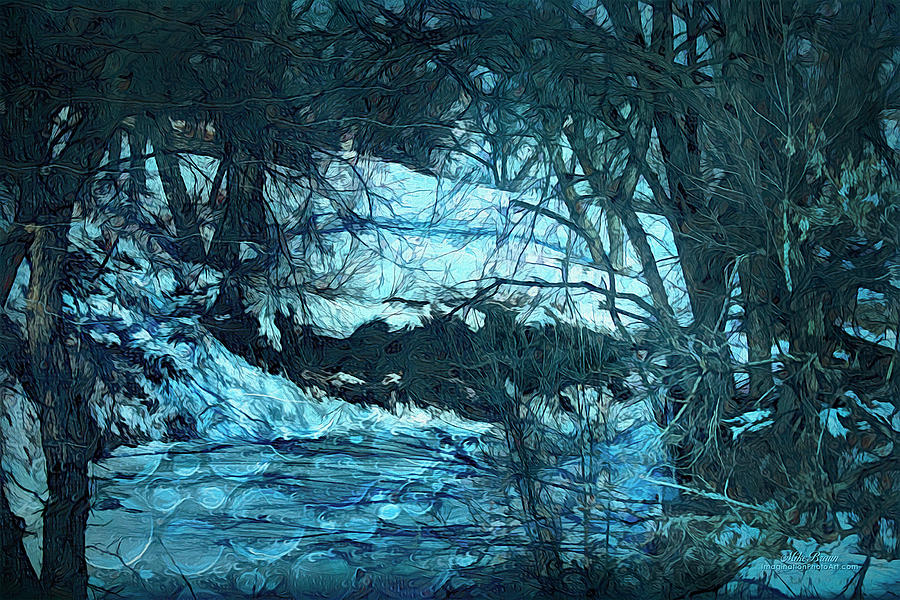 Winter Digital Art - Winter Deep In The Enchanted Forest by Mike Braun