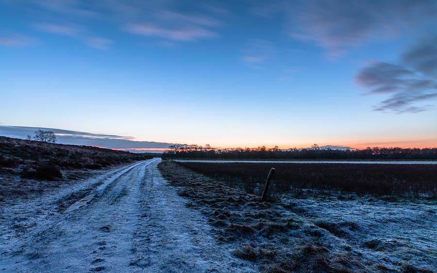 Winter Dirt Road Photograph by William Mevissen