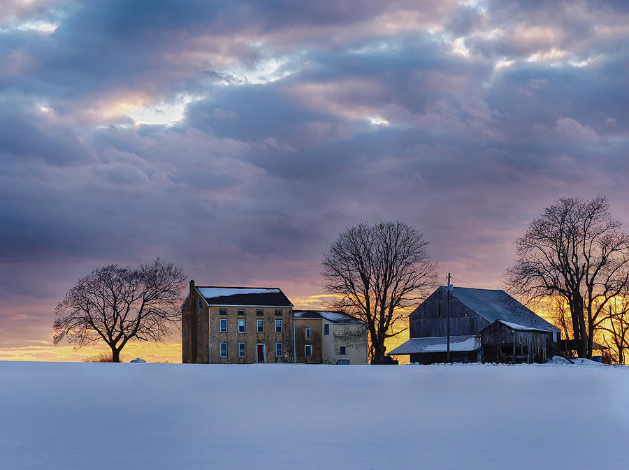 Winter Evening Photograph