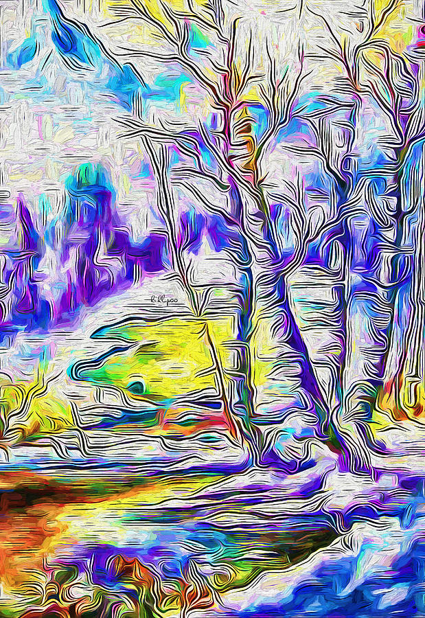 Paint Painting - Winter Festivum by Nenad Vasic