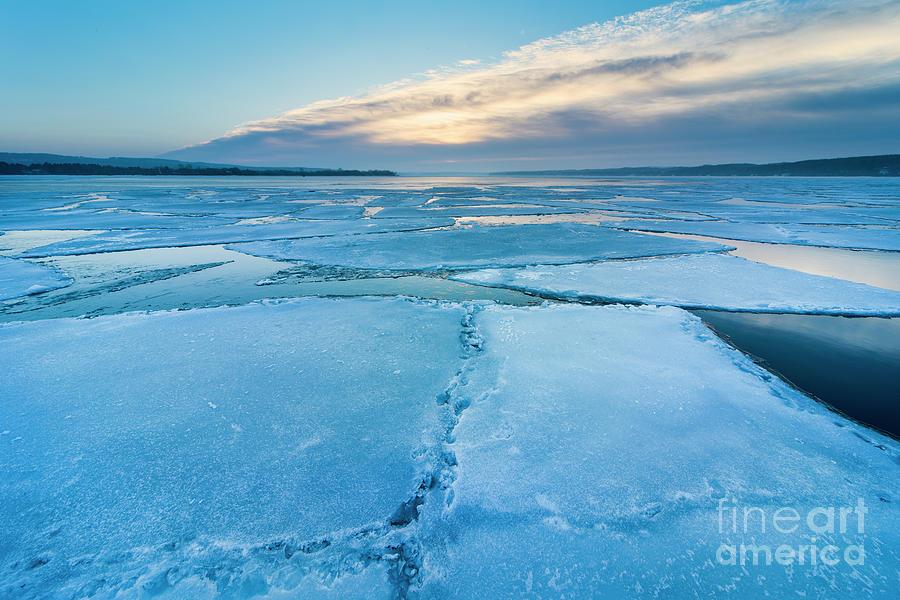 Winter Icebergs In Onekama Photograph