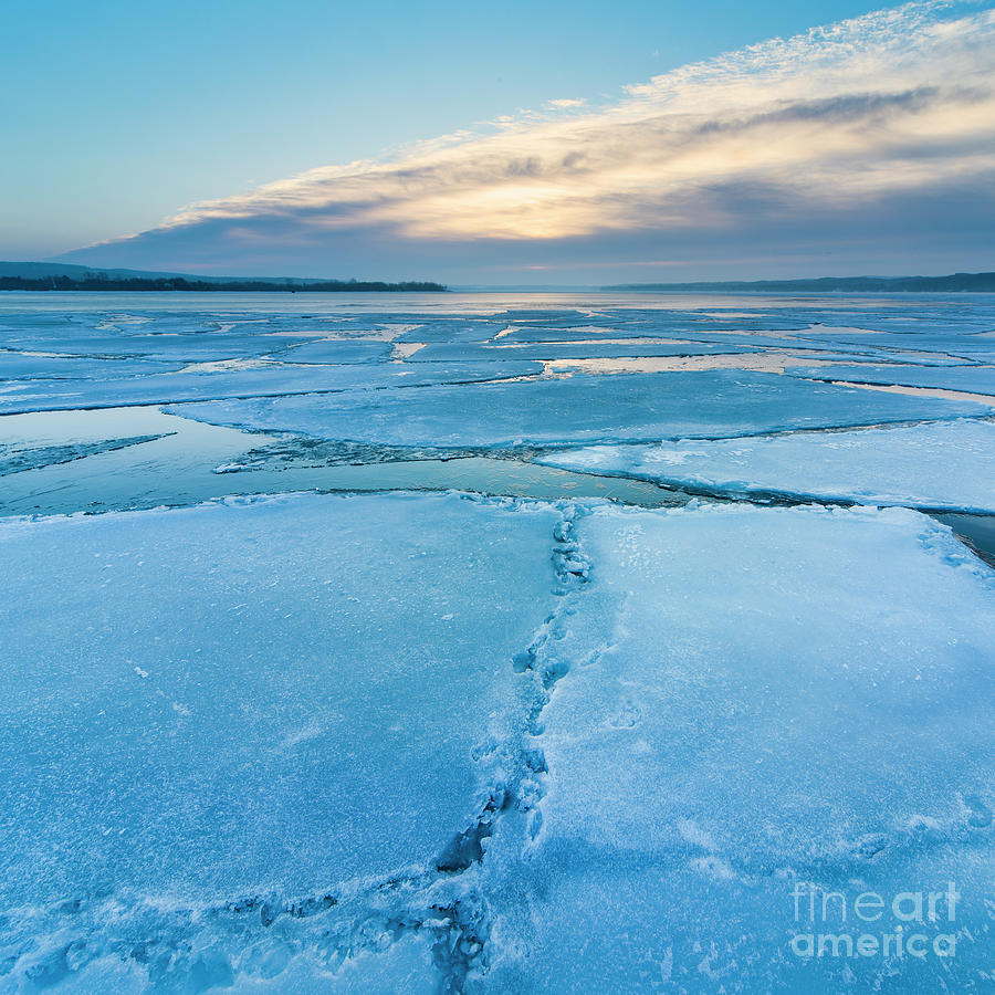 Winter Icebergs Square Photograph