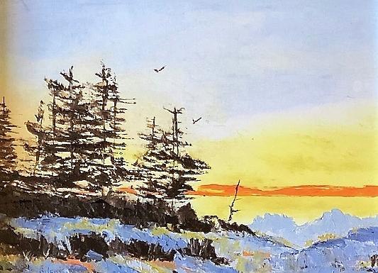 Winter Lake  by Donna Joy Cavaliere