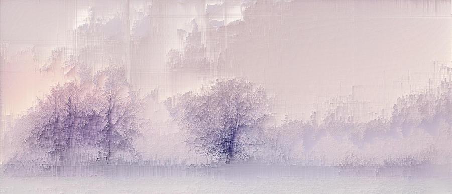 Winter landscape Digital Art by Jenny Filipetti