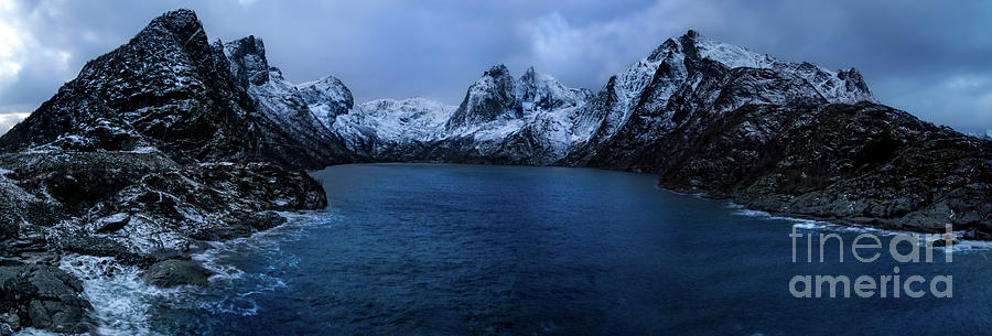 Winter Lofoten Fjord Photograph