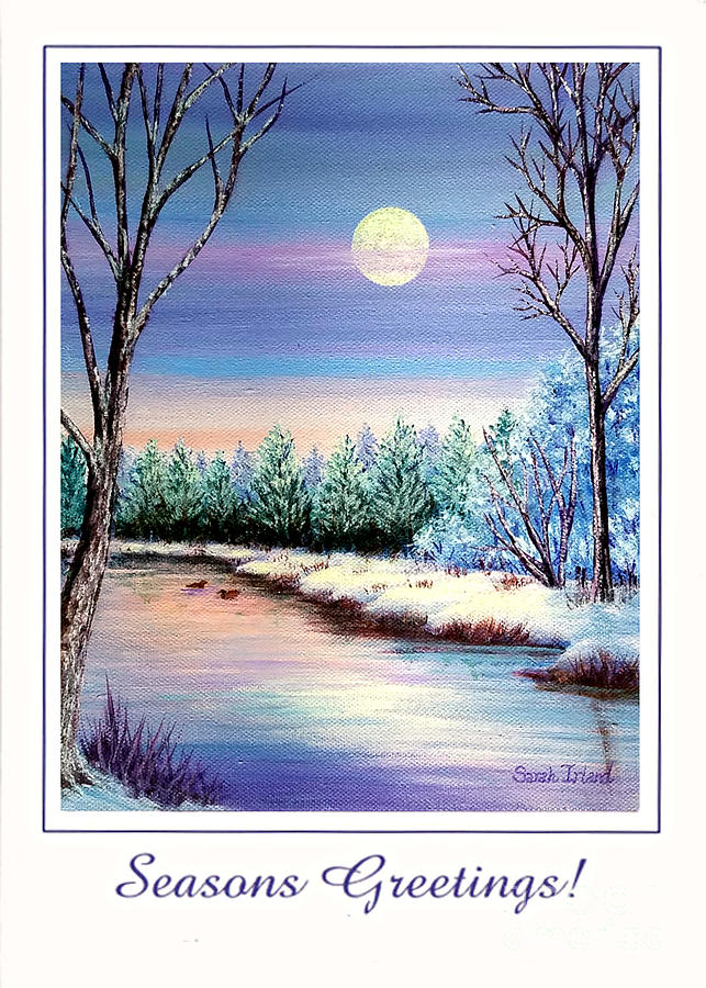 Winter Moon - Seasons Greetings by Sarah Irland