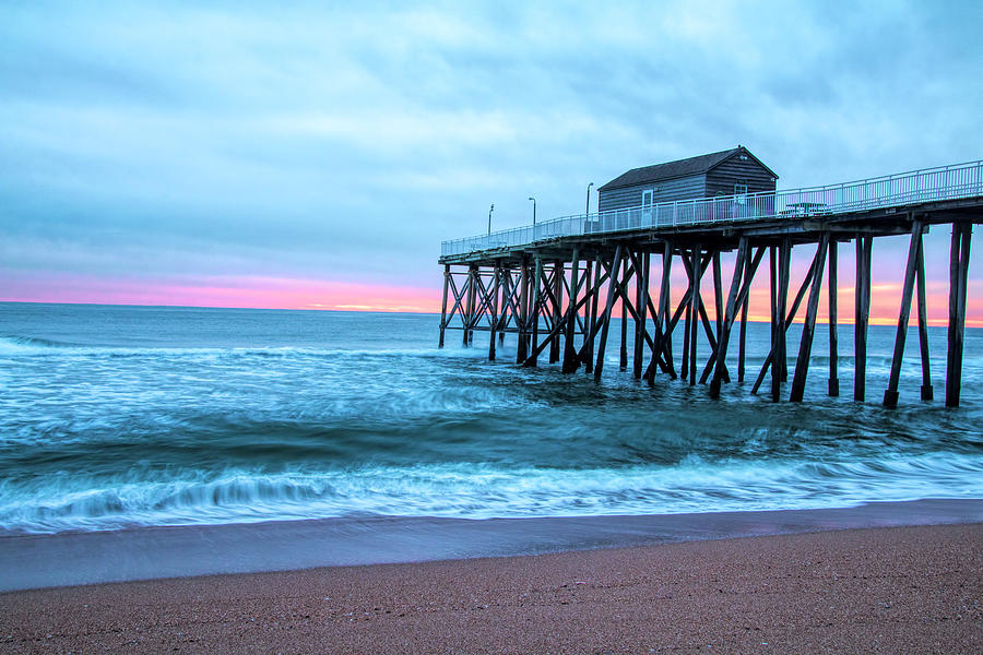 Winter Morning At Belmar Pier by Kristia Adams