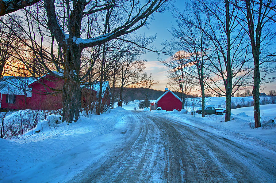 Winter Morning on the Farm by Joann Vitali