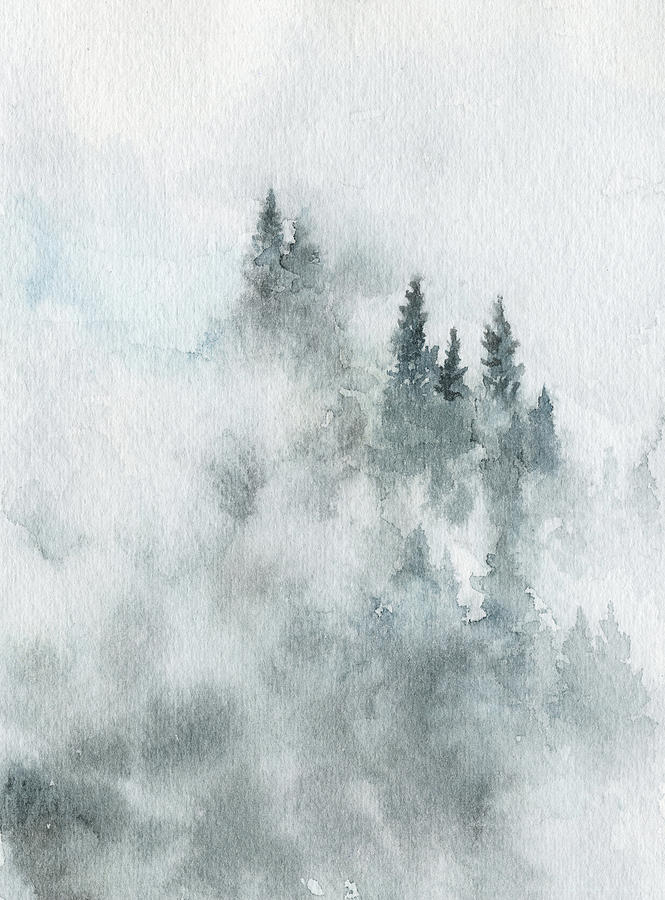 Winter Painting - Winter Mountain Air by Ink Well