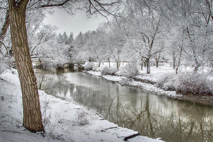 Winter on Avon River Photograph by Eden Watt