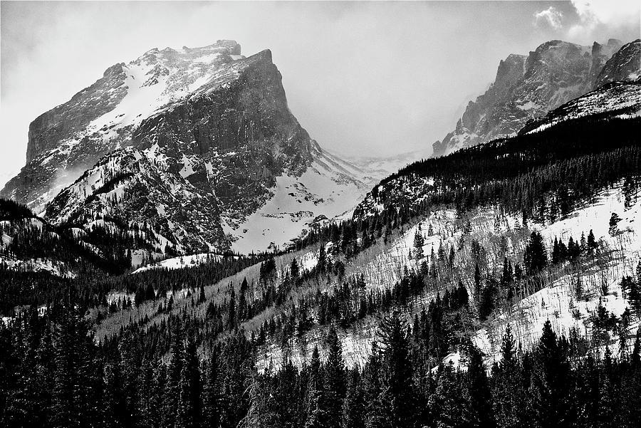 Winter On Hallet Peak, Rmnp Photograph