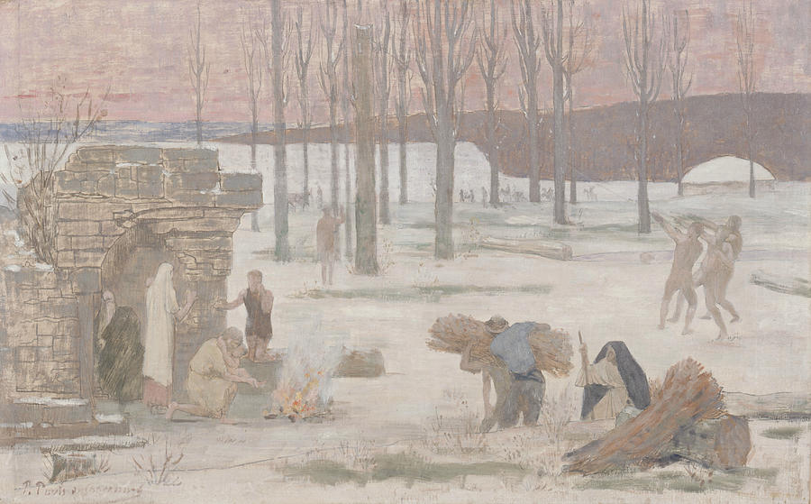Winter by Pierre Puvis de Chavannes
