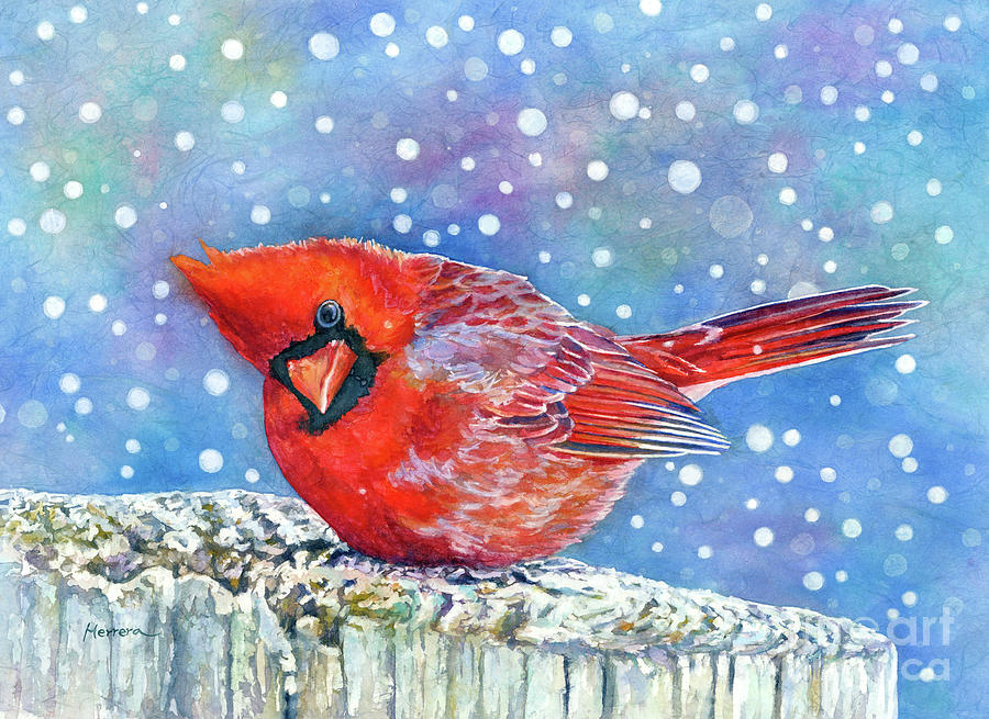 Winter Quietude-pastel Colors Painting