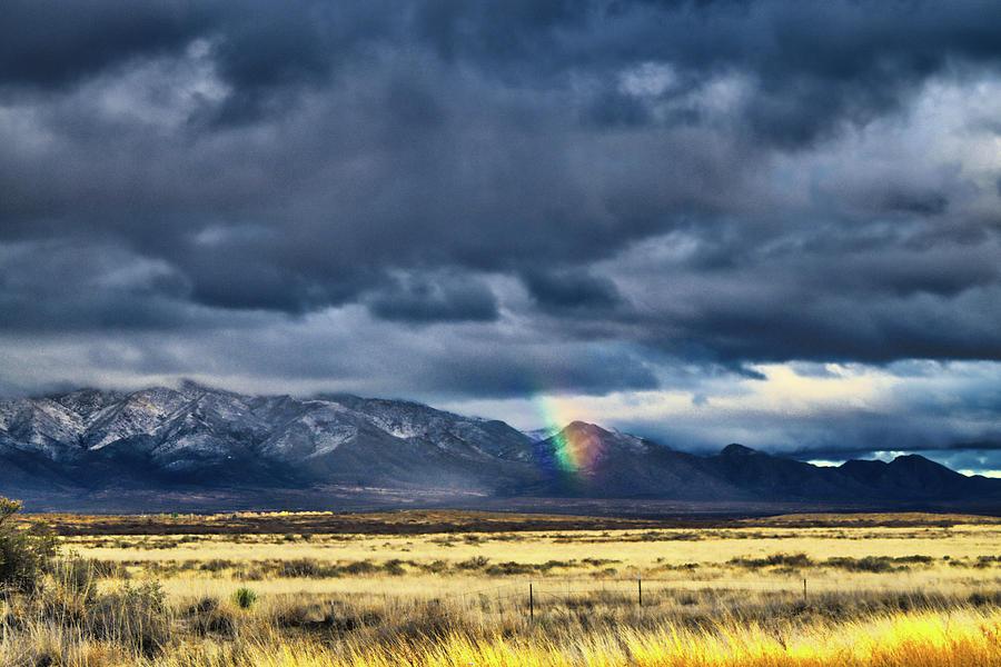 Winter Rainbow, Dos Cabezas Mountains, Arizona by Chance Kafka