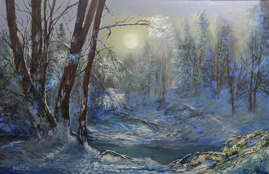 Winter Rays Painting