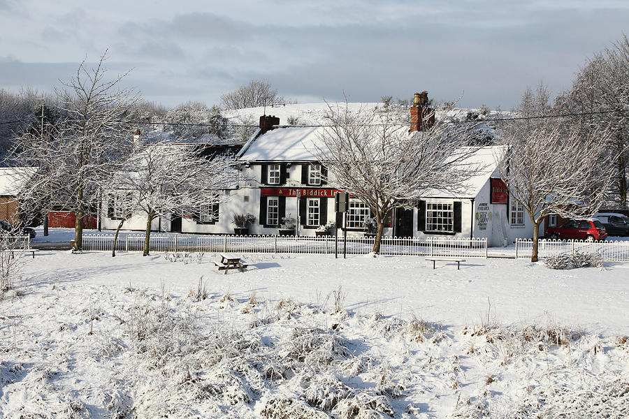 Winter scene country pub by Bryan Attewell