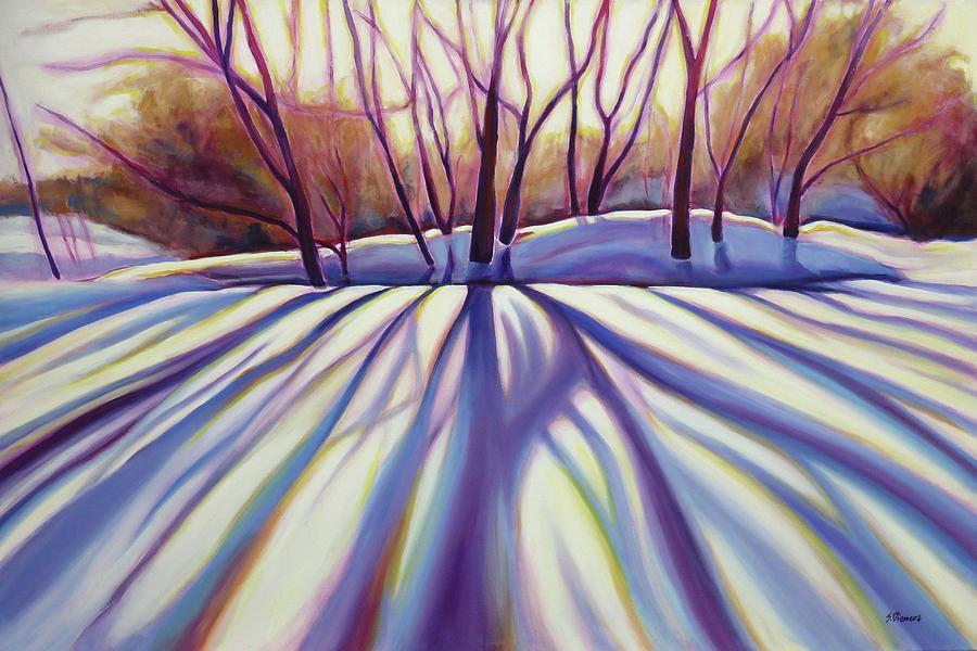 Winter Shadows Version II Painting